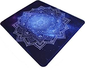 Gaming Mouse Pad Starry Blue Mandala Pattern Mousepad Computer Laptop Non-Slip Rubber Base Mouse Mat with Stitched Edge for Office & Home,9.8×11.8inches