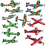 "Bulk Party Favors 8"" Glider Planes Fighter Jets - Fun Toys - Pk of 24 Gliders - Foam Glider Airplane - Fun Gift, Party Favors, Stocking Stuffer, Goody Bag Fillers, Carnival Prizes, Pinata Filler"