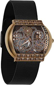 Christian Geen Analog Watch For Women - Stainless Steel, Black - 9031Llrw-Wh