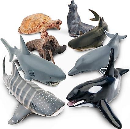 Shark Sea Creature Toy Animal Figures Boxed set of 6