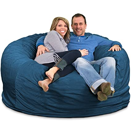 Amazon Com Ultimate Sack 6000 Bean Bag Chair Giant Foam Filled