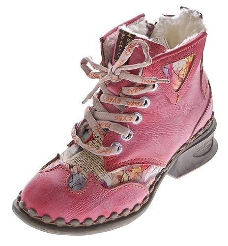 wholesale dealer 3adc5 e638c TMA Leder Damen Winter Stiefeletten Comfort Knöchel Schuhe 5171 Schwarz  Weiß Blau Rot Boots gefüttert