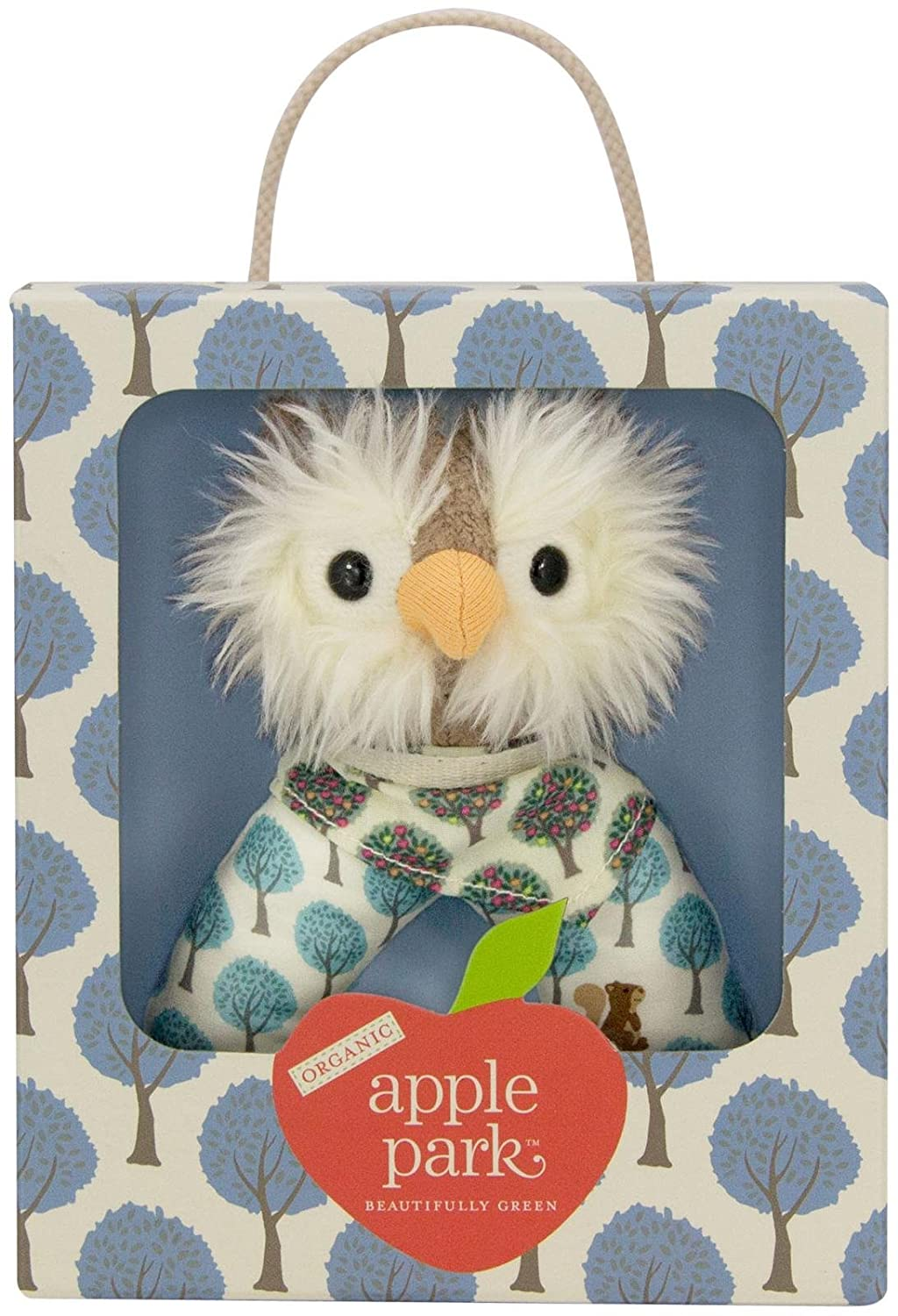 Apple Park Organic Patterned Rattle ブラウン TM389  フクロウ B00MY5H48A