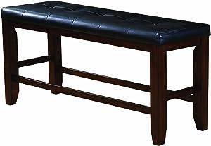 Acme 00679 Urbana Counter Height Bench, Cherry Finish