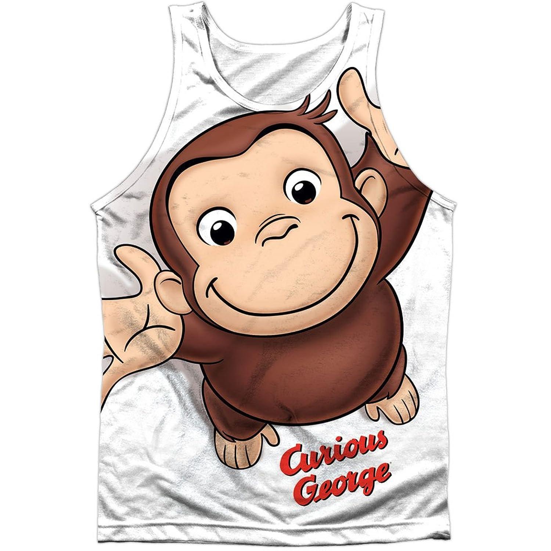 Curious George Books Cartoon Movie TV Monkey Hug Front Print Tank Top Shirt