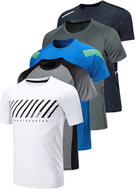 Mens Quick Drying Short Tee Sports Run Outdoor Sleeve O-Neck Tops Women T-Shirts