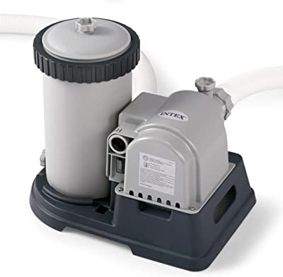 Intex 28633EG Krystal Clear Cartridge Filter Pump for Above Ground Pools, 2500 GPH Pump Flow Rate, 110-120V with GFCI, system flow rate of 1,900 gallons per hour