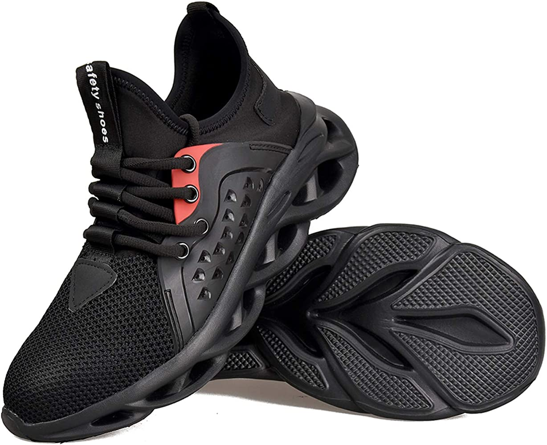 JACKSHIBO Safety Steel Toe Shoes Men