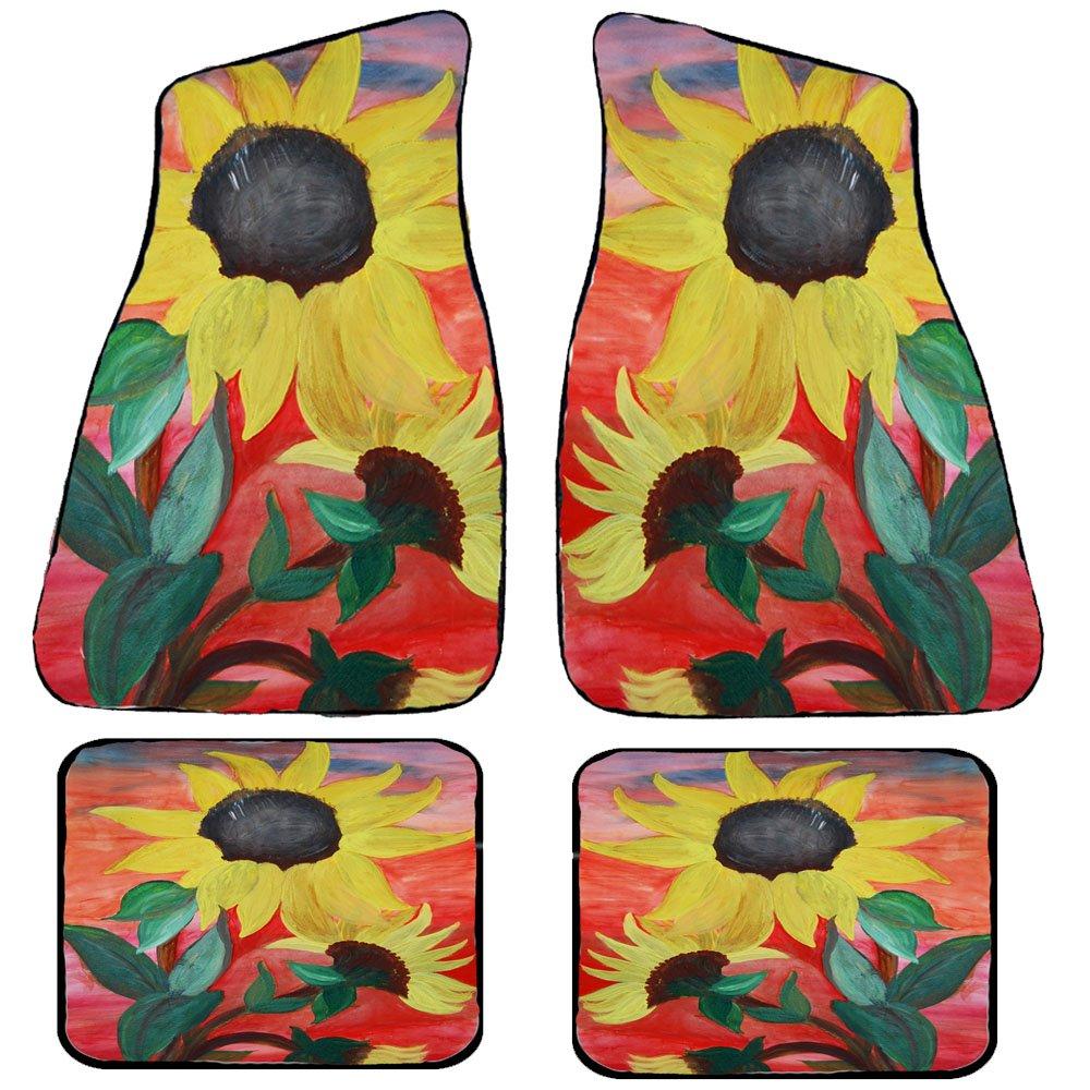 Sunflowers Art Auto Car Floor Mat Sets