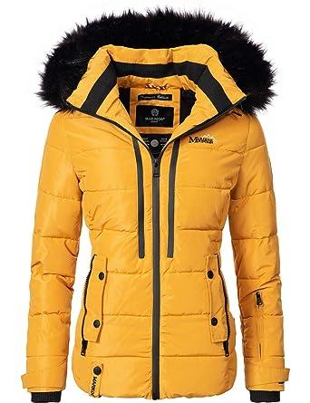 72f5e297d52ea4 Marikoo Damen Winter-Jacke Steppjacke Snowgirl 7 Farben XS-XXL ...