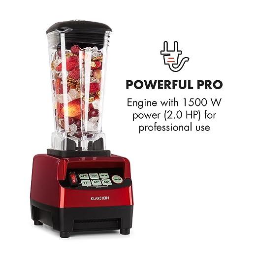 Klarstein Herakles-5G • Batidora de vaso • Batidora americana • Smoothie Maker • 1500 W • Libre de BPA • 40.000 Revoluviones por minuto • 2 Litros de ...