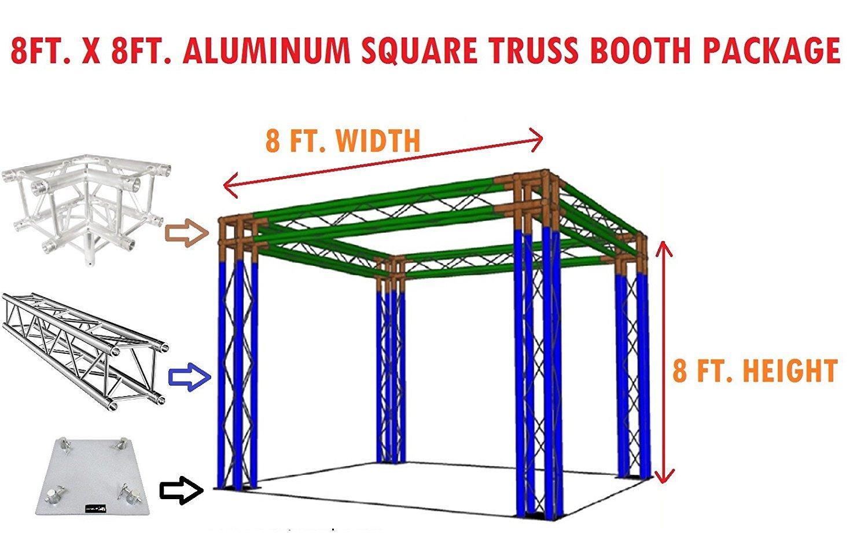 Amazon com: Square Aluminum Truss 8ft  x 8ft  Trade Show