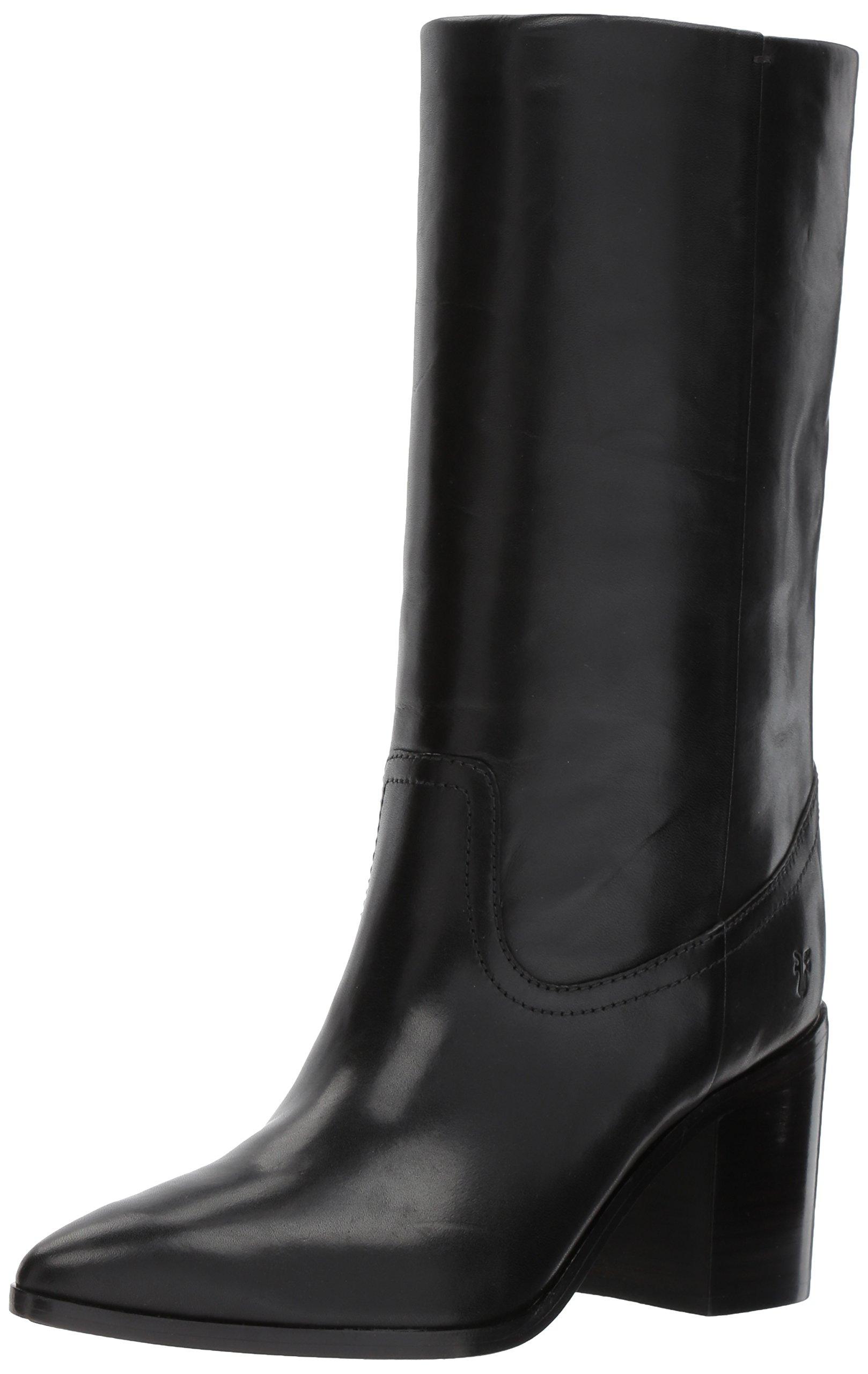 FRYE Women's Flynn Mid Pull on Boot, Black, 10 M US