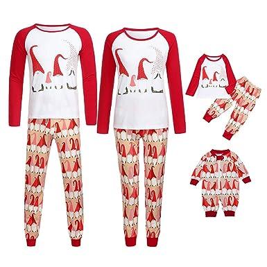6673781111 Amazon.com  Family Matching Christmas Pajamas Xmas Pajama Sets Funny Print Sleepwear  Sets Homewear Adults Kids Pajama PJ Set Outfit  Clothing