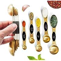 Magnetic Measuring Spoons Set - Stainless Steel Measuring Spoons - Magnetic Measuring Spoon Set, Gold Measuring Spoons…