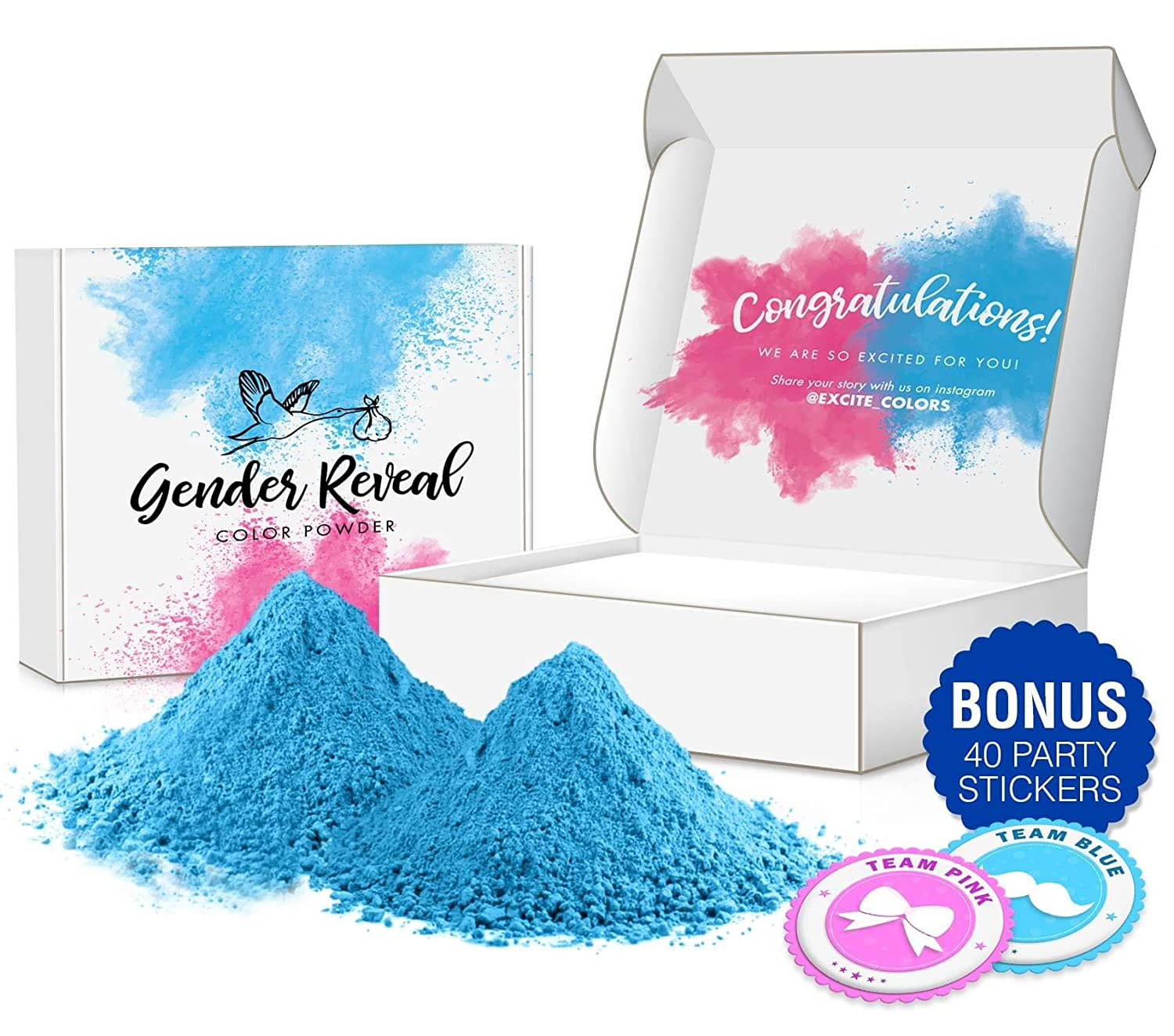 Amazon Com Excite Colors Gender Reveal Powder 2lb Blue Car