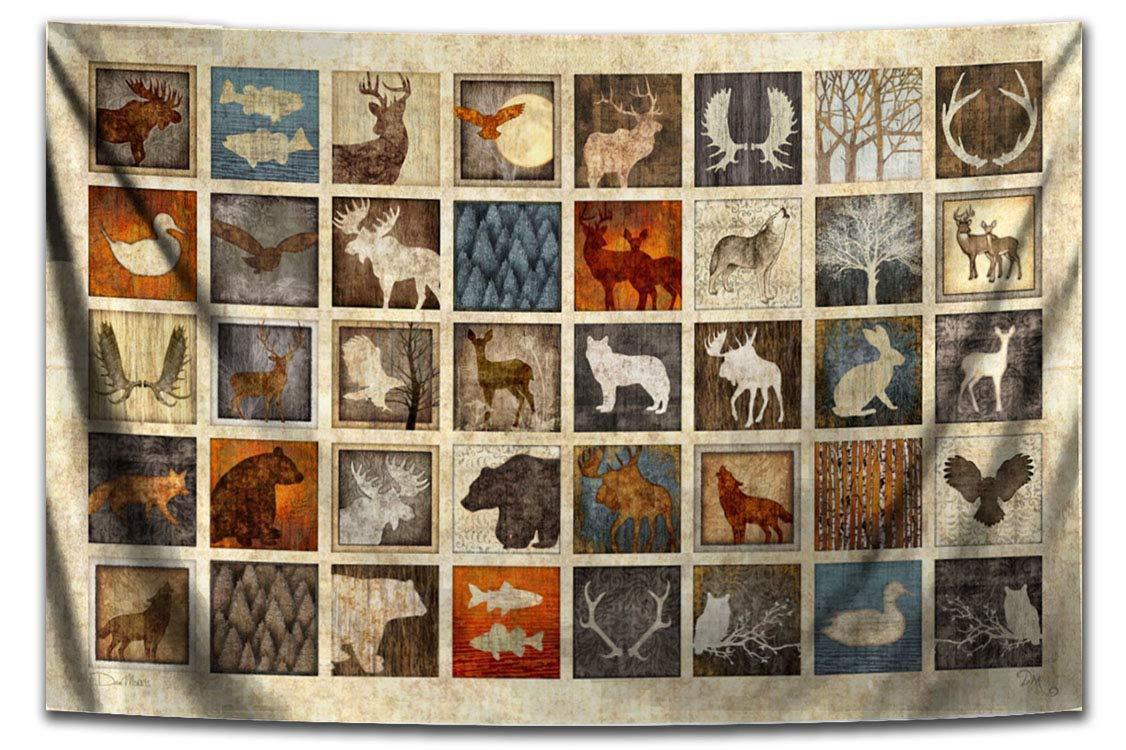 Lodge Animal Tapestry by Dan Morris, 26 x40