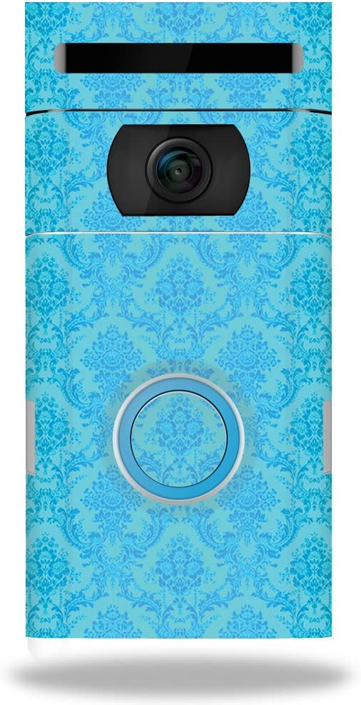 MightySkins Skin Compatible with Ring Doorbell 2 - Blue Vintage | Protective, Durable, and Unique Vinyl Decal wrap Cover | Easy to Apply, Remove, and Change Styles | Made in The USA