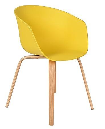 Ts Ideen 1x Design Stuhl Wohnzimmer Esstisch Kchen Tisch Esszimmer Sitz In Gelb