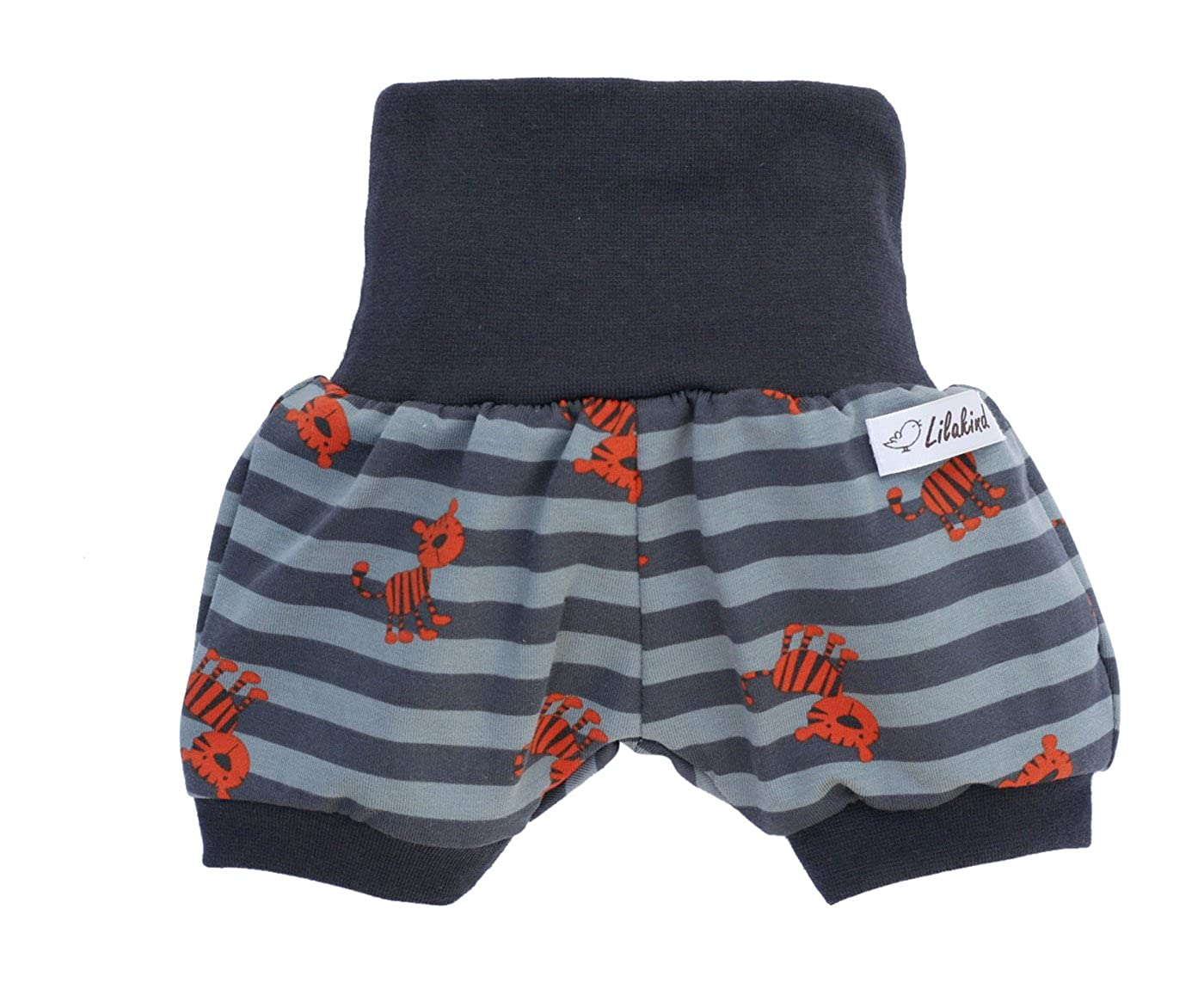 Lilakind Kurze Jungen Pumphose Shorts Buxe Sommerhose Gestreift Tiger - Made in Germany