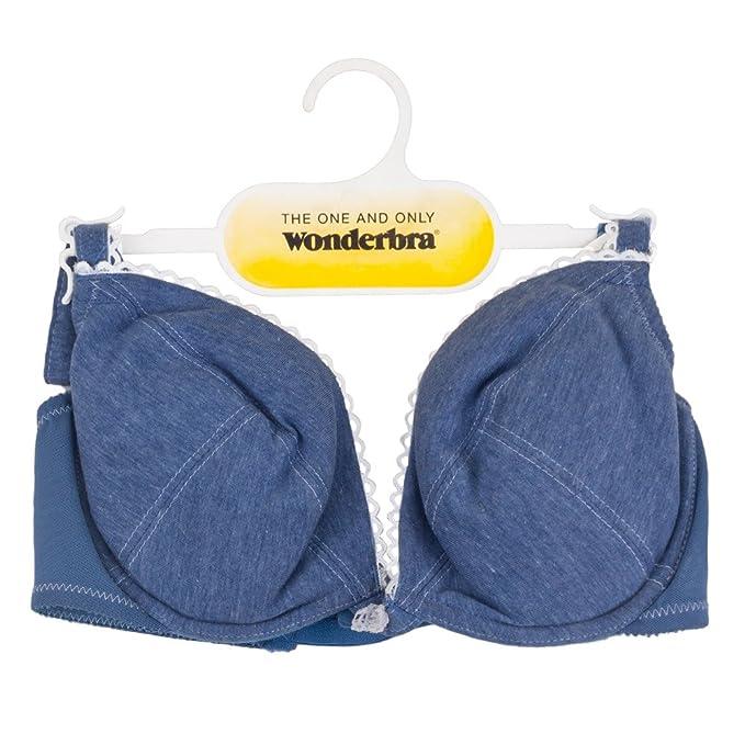 Wonderbra - Sujetador básico - para mujer azul azul vaquero 100A, A, A