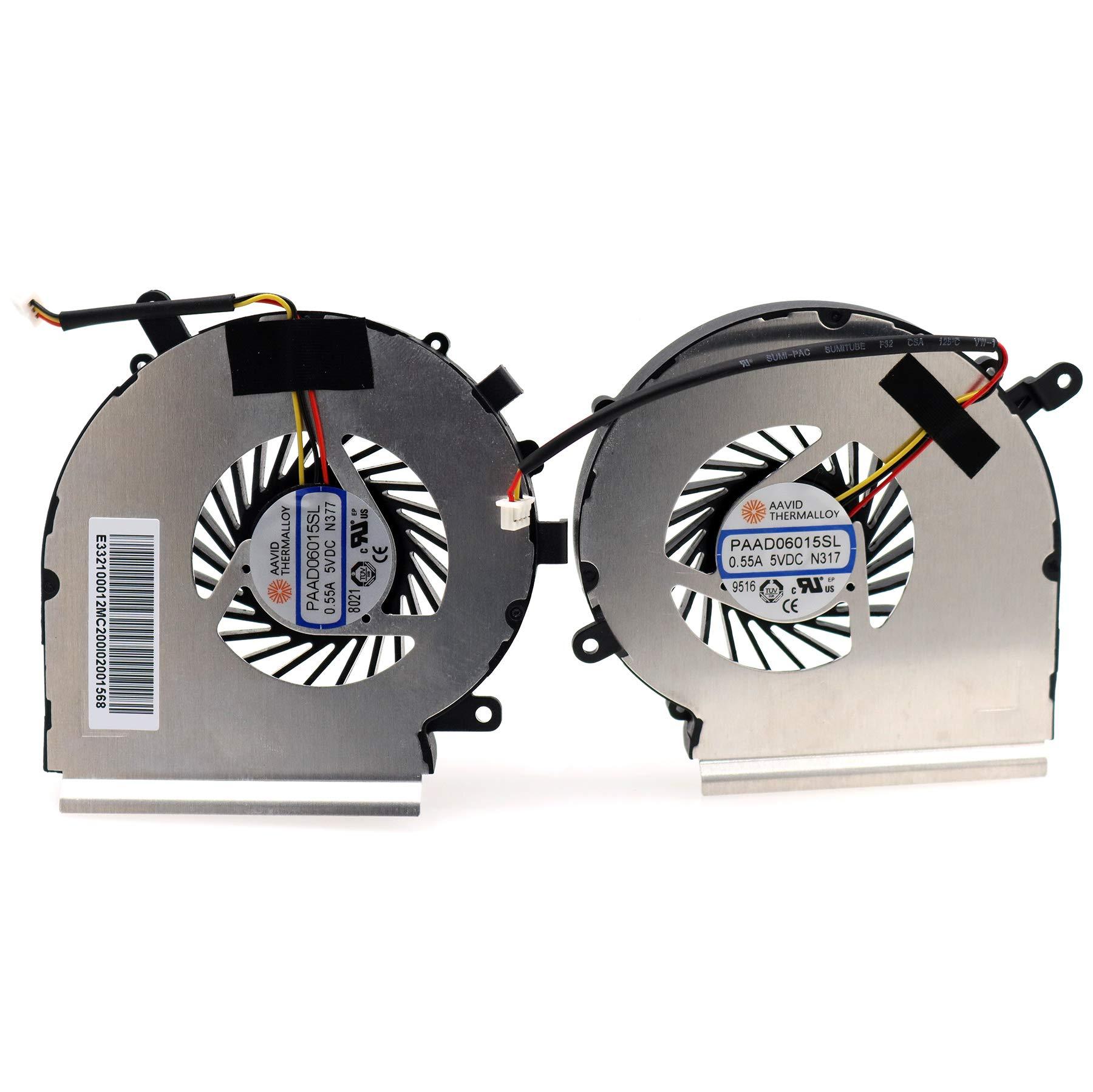 Cooler CPU / GPU para MSi GE62 GE72 PE60 PE70 GL62 GL72