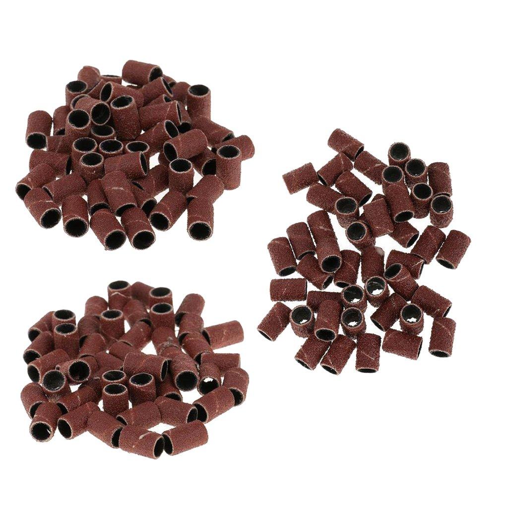 MagiDeal 150 Stück Nail Art Nagelfräser Ersatz Schleifband, Schleifhülsen - Fine Grit / Medium Grit / Coarse Grit per 50 Stück
