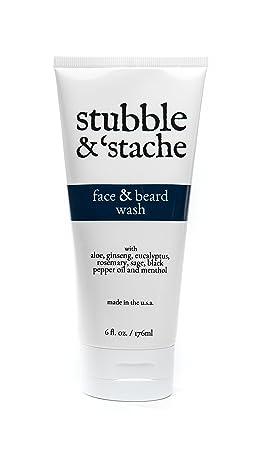 stubble stache Face Beard Wash, 6 fl oz