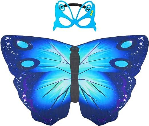 Hifot Dreamy - Chal de baile con mariposa, alas de hada princesa ...