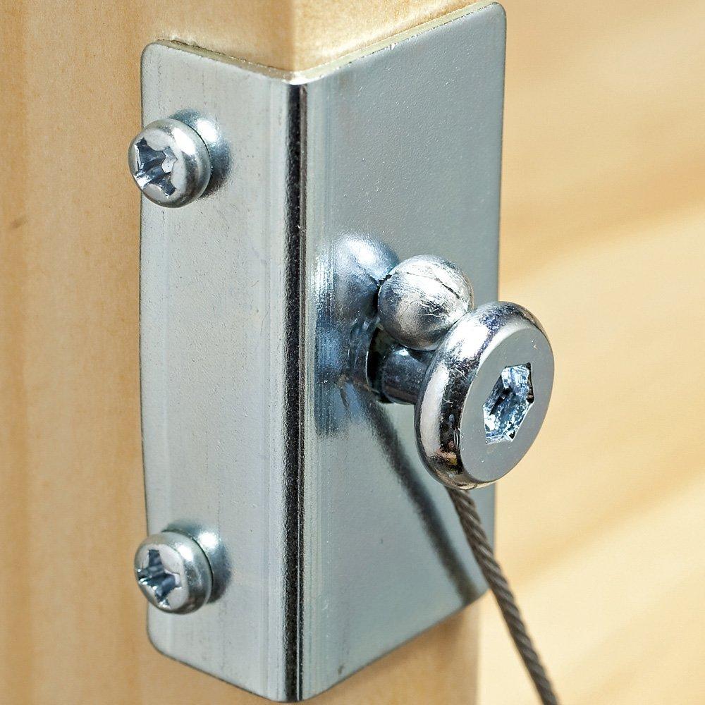 Amazon.com: I-Semble™ Cross Strap Shelf Stabilizer Kit: Home Improvement