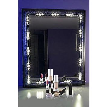 PENSON Lighted Mirror LED Light for Cosmetic Makeup Vanity Mirror Kit  20 LED  Lights. Amazon com  PENSON Lighted Mirror LED Light for Cosmetic Makeup