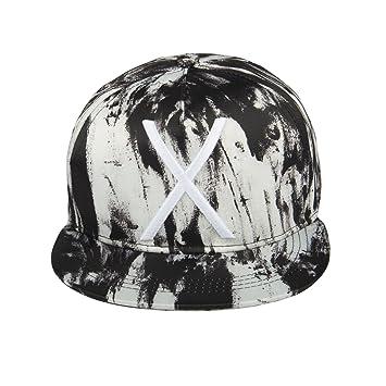 7abca2769ec Noise Black-White Textured Snapback Cap  Amazon.in  Sports