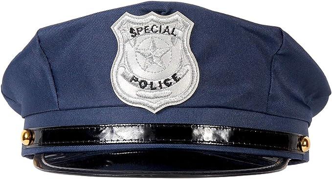 Alsino Policía Sombrero Gorra De Policía Cap Carnaval Cop Policía Sombrero Azul 176: Amazon.es: Ropa y accesorios
