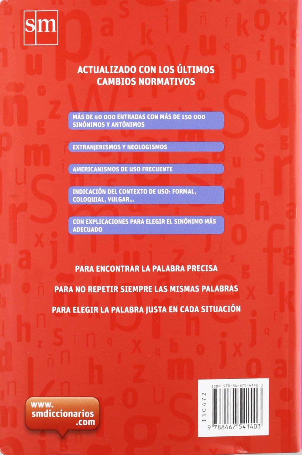 diccionario sinnimos y antnimos lengua espaola amazones equipo pedaggico ediciones sm libros