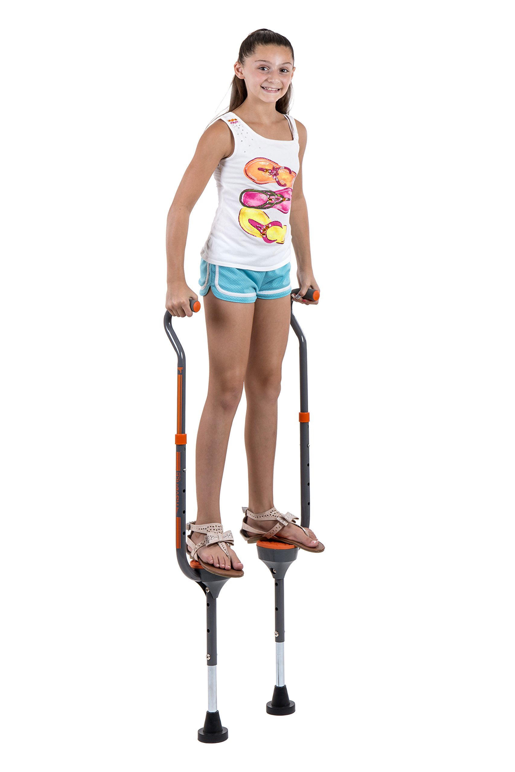 Flybar Maverick Walking Stilts for Kids Ages 5 +, Weights Up to 190 Lbs - Adjustable Foam Handles with Wide Stance Foot Pegs - Fun Outdoor Toys for Girls & Boys