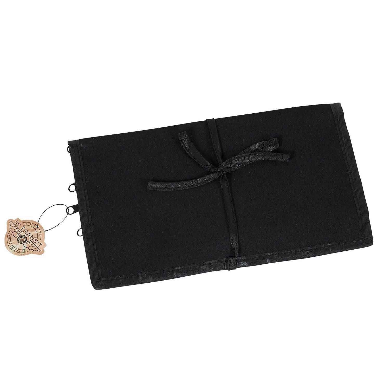 Household Essentials Jewelry Roll Travel Organizer, Black 06904