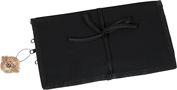 Household Essentials Jewelry Roll Travel Organizer, Black