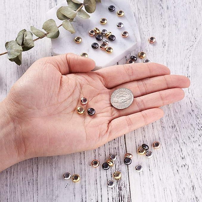 2451 10 Pièce Boucle 14x10mm perles spacer rotkupfer Beads Bricolage Bijoux