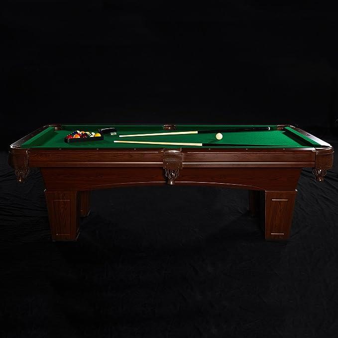MD Deportes tradicional mesa de billar de pierna cuadrado, 8 ...