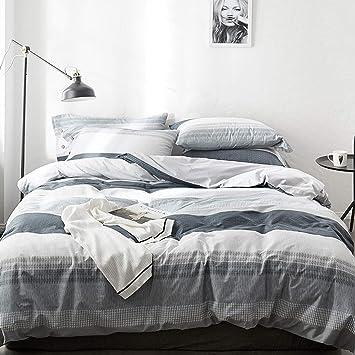 CJJC Nordic 100% Baumwolle Bettbezug & Kissenbezug Set ...