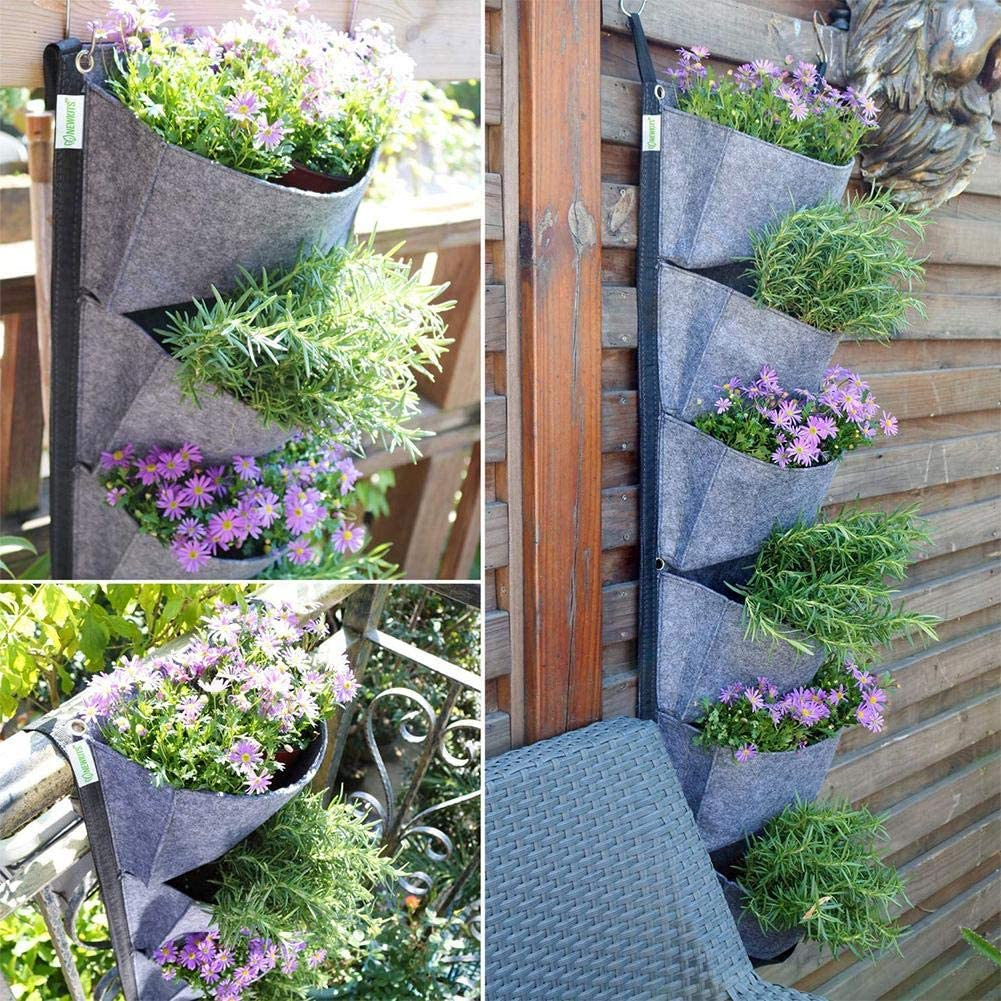 Hanging Planting Bag Wall-mounted Vertical Plant Bag Wall Bag Green Growing Flower Trough Family Wall Balcony Garden Supplies