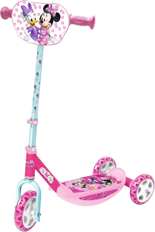 Smoby - Minnie- Patinete 3 Ruedas Manillar de Altura Regulable, Ligero y Estable Disney (Simba 750167)
