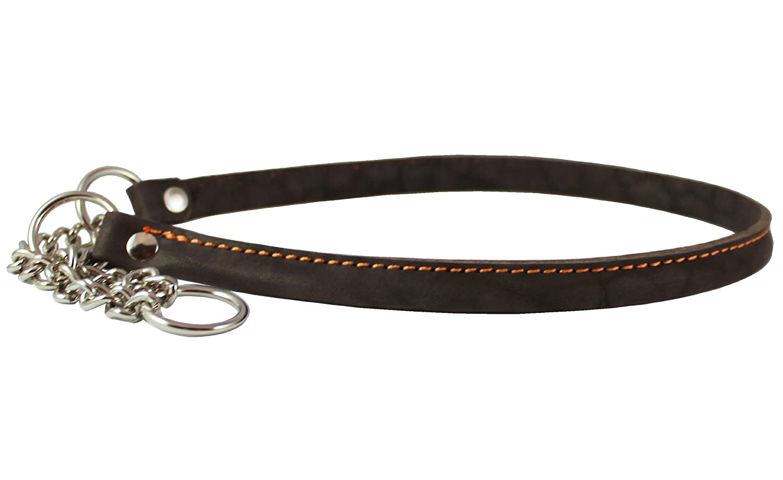 Martingale Genuine Leather Dog Collar Choker Large to XLarge 21-25 Neck Cane Corso German Shepherd English Bulldog