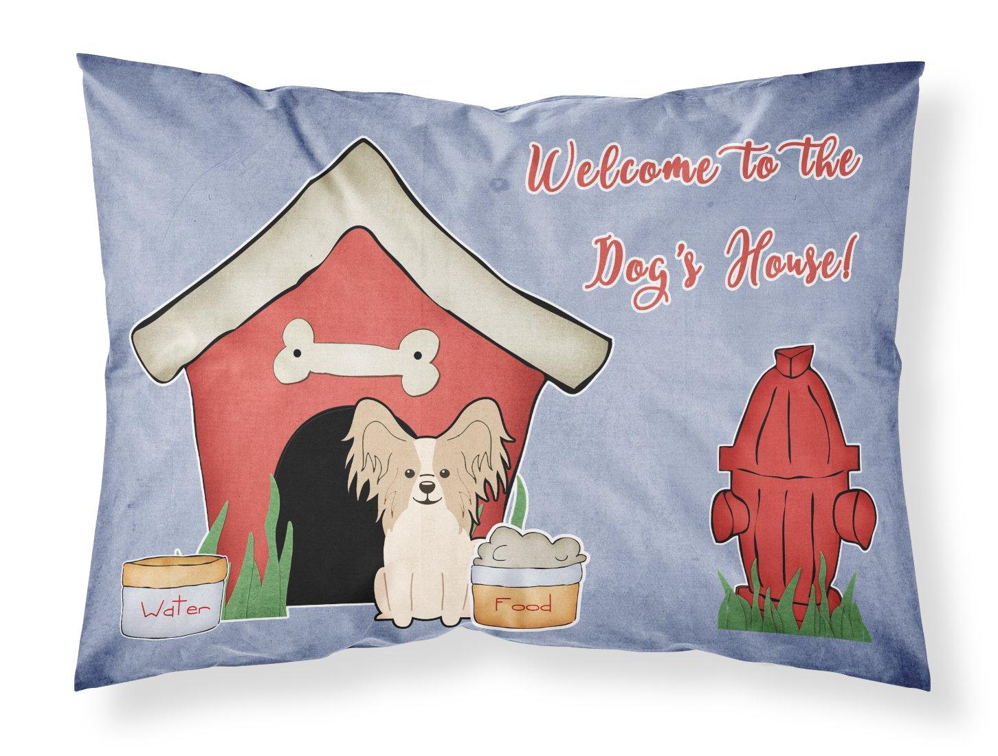 Carolines Treasures Dog House Collection Papillon Sable White Fabric Standard Pillowcase BB2831PILLOWCASE Multicolor