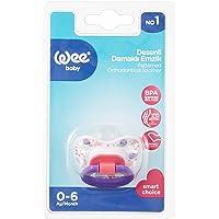 Wee Baby 833 Desenli Damaklı Emzik No:1 0-6 ay, Mor