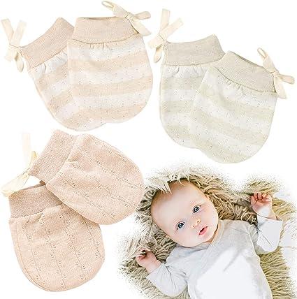 6 PAIRS COTTON MITTENS GLOVES  NEW BORN BOY BABY  CLOTHS Mix No Scratch Infant