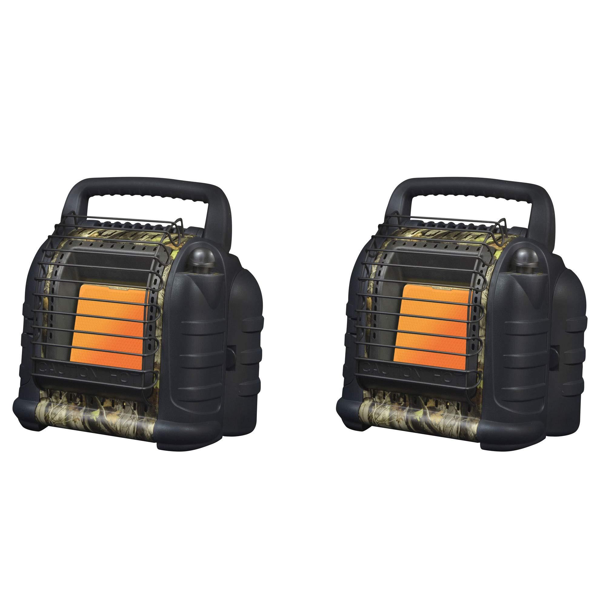Mr Heater MH12B 12000 BTU Hunting Buddy Portable Propane Heater, Camo (2 Pack) by Mr. Heater