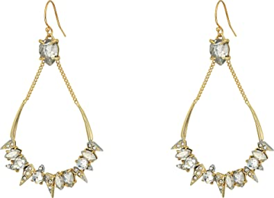 Alexis Bittar Crystal-Encrusted Mosaic Futuristic Earrings xZf47M