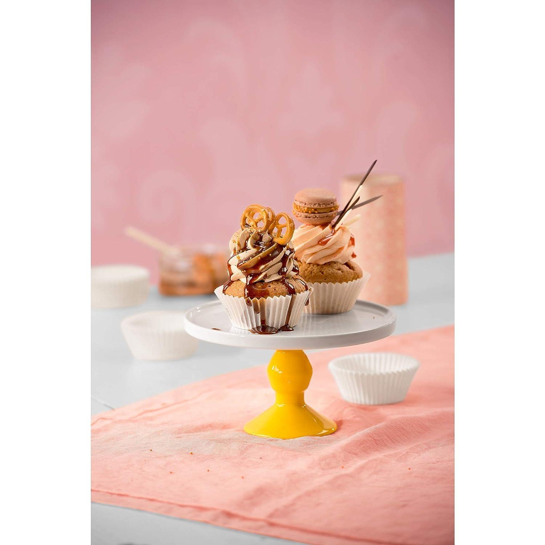 ideal f/ür s/ü/ße und herzhafte Muffins wei/ß 200 St/ück /Ø 7 cm fettdicht Kaiser Inspiration Muffin F/örmchen Papier