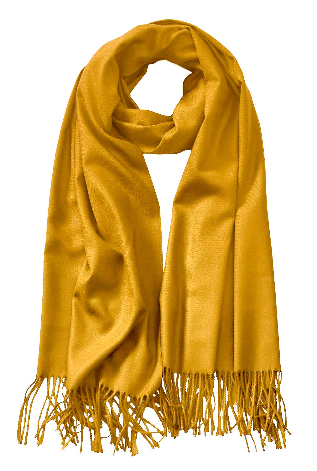MBJ Shawls and Wraps Elegant Cashmere Scarfs for Women Stylish Warm Blanket Solid Winter Scarves ONESIZE MUSTARD by Made By Johnny